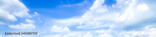 blue sky background with tiny clouds. panorama,Blue sky background with clouds - fototapety na wymiar