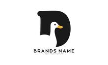 Letter D For Duck Creative Logo