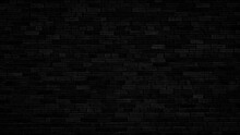 Brick Black Wall Background Or Texture