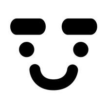 Expressive Eyebrow Face Icon