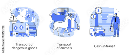 Transit and logistics abstract concept vector illustrations. - fototapety na wymiar