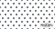 Dots Pattern Vector. Polka Dot Background. Monochrome Polka Dots Abstract Background. Dot Pattern Print. Panorama View. Vector Illustration