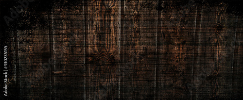 Obraz Old grunge dark textured wooden background,The surface of the brown wood texture . - fototapety do salonu