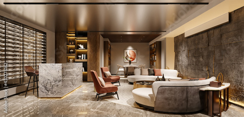 Fotografie, Obraz 3d render of club house and society interior