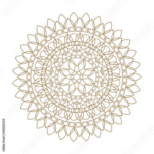 Fototapeta golden mandala decoration