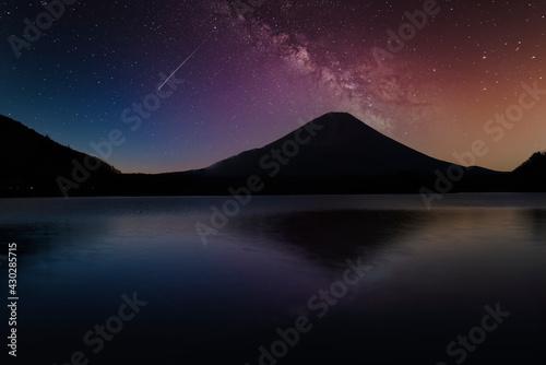 Fotografering 富士山と星景合成