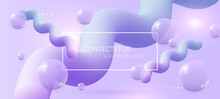 Abstract Light Violet Background With 3d Soft Liquid Fluid Shapes. Vector Template For Placards, Banners, Flyers And Presentations. EPS 10 Illustration.