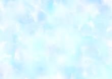 水彩画 水色 背景 フレーム