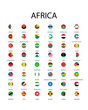National flag in Africa, Vector pin icon design.