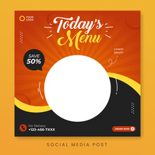 Food Menu Social Media Post Template
