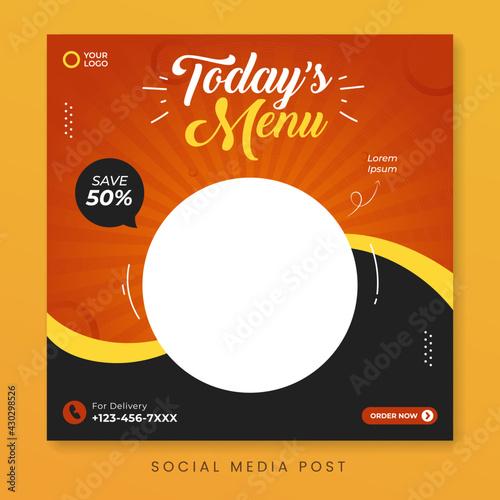 Fotografija Food menu social media post template