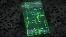Green Digital Code Or Machine Language. Futuristic Technologies Background. Seamless Loop 3D Render Animation