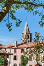 Bell Tower Of The Church Of Saint-Félix-Lauragais In Occitanie, France