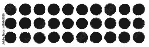 Fotografie, Obraz Set of circle brushes elements