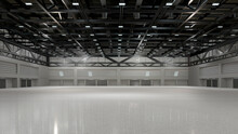 Empty Exhibition Center. Backdrop For Exhibition Stands.3d Render.