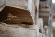 Closeup Shot Of Firewood