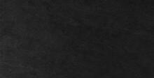 Panorama Of Dark Grey Black Slate Background Or Texture. Black Granite Slabs Background