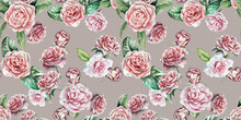 Floral Pattern, Handmade Watercolor Flowers, All Over Pattern For Fashion And Textile, Unique Wedding Card, Pale Flowers Pattern, Seamless Flowers Pattern