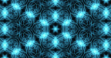 Blue 6-Mirrored Fractal Mandala. This Is A Digital Painting Of A Fractal Mandala. This Image Will Make An Excellent Background For Your Computer, Mobile Device, Website Or Videos.