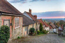 Cottages On A Cobbled Street