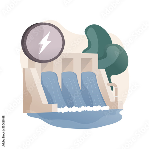 Fototapeta Hydropower abstract concept vector illustration. obraz