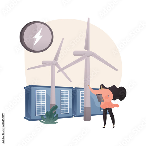 Fototapeta Wind power abstract concept vector illustration. obraz
