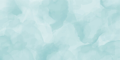 Abstract blue azure green marble fluid painted background. Alcohol ink or watercolor art. Editable vector texture backdrop for poster, card, invitation, flyer, cover, banner, social media post.