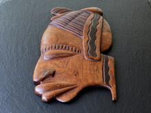 Kopf Geschnitten Aus Holz