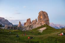 Cinque Torri Al Tramonto - Dolomiti