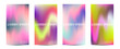 Minimal covers design.Colorful halftone gradients.background modern template design for web.Future geometric patterns.Colorful holographic abstract background. Plastic Pink,Proton Purple.UFO Green