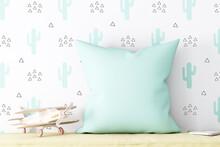 Children's Blank White Square Mockup Pillow, Mockup Pillow Kids, Pillow Kids, Mockup Pillow, Baby Mockup Throw Pillow,