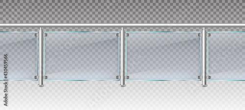 Fényképezés Realistic glass fence