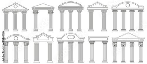 Billede på lærred Ancient pediments