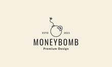 Money Coin With Boom Lines Logo Symbol Icon Vector Graphic Design Illustration