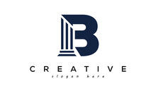 Initials Monogram B Letter Attorney And Law Business Logo Concept. Design Template, Vector Illustration.