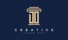 Initials Monogram DO Letter Attorney And Law Business Logo Concept. Design Template, Vector Illustration.