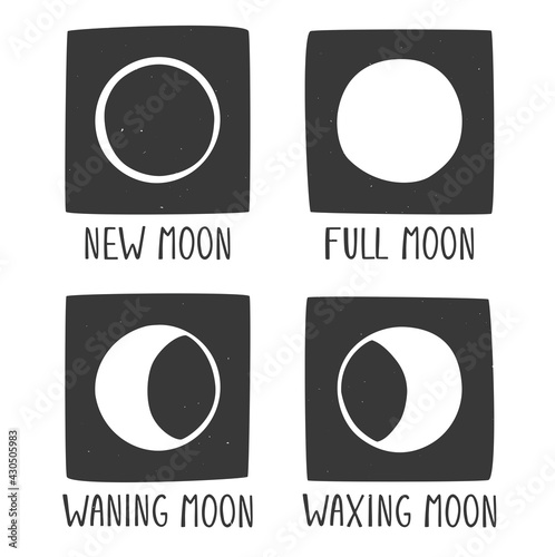 Fotografia Four phases of the moon