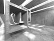 Leinwandbild Motiv Abstract architecture interior background. Empty concrete room