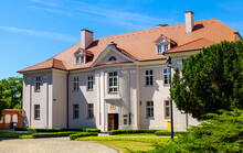 Metropolitan Curia Residence Aside Cathedral Of St. Peter And St. Paul On Historic Ostrow Tumski Island At Cybina River In Poznan, Poland