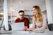 Leinwandbild Motiv Business people, designers working on new project in modern office