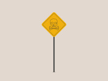 Skull And Bones Warning Sign, Danger Icon