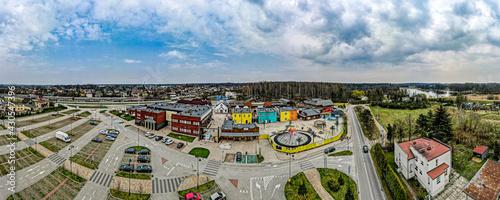 park rozrywki z lotu ptaka w Żorach na Śląsku - fototapety na wymiar
