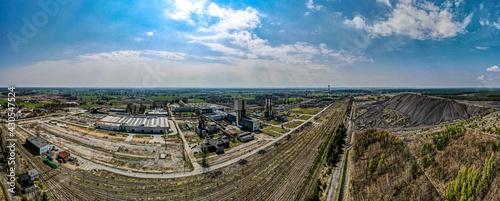 Fototapeta Kopalnia węgla Krupiński w likwidacji z lotu ptaka, Śląsk , Polska obraz
