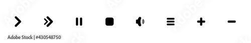 Fotografie, Obraz play music vector icon.