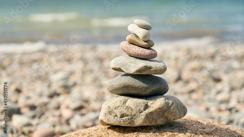 Steinhaufen als Zen Buddhismus Meditation Konzept