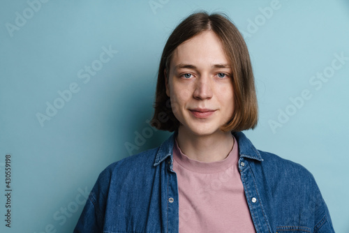 Fototapeta Young european man posing and looking at camera obraz