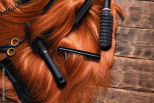 Obraz na plátně Hairdressing salon concept background