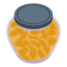 Pickled Fruits Icon. Isometric Of Pickled Fruits Vector Icon For Web Design Isolated On White Background