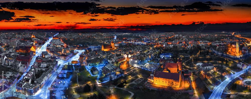 Fototapeta Panorama Olsztyna, miasta na Warmii w północno-wschodniej Polsce
