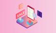 isometric sale phone mirrors business